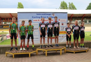 Siegerehrung Landesmeisterschaft Teamsprint U13